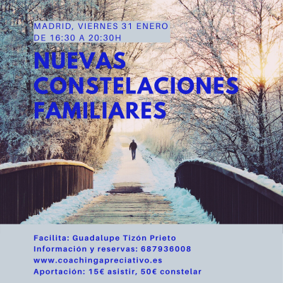 Taller Nuevas Constelaciones Familiares viernes 31 de enero, Madrid