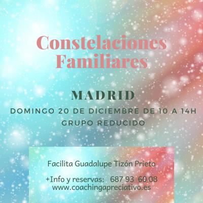 Taller de Nuevas Constelaciones Familiares presencial el 20 de Diciembre en Madrid